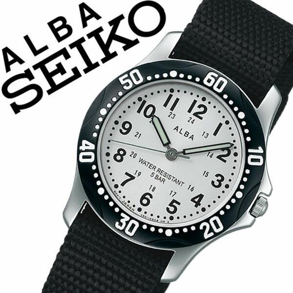 セイコーアルバ 腕時計 [SEIKOALBA時計](SEIKO ALBA 腕時計 セイコー アルバ 時計) メンズ レディース ユニセックス 男女兼用 腕時計 シルバー AQQS001 [NATO ベルト 正規品 クォーツ アナログ スタンダード ブラック][バーゲン プレゼント ギフト][おしゃれ 腕時計]