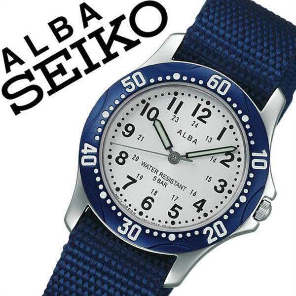 セイコーアルバ 腕時計 [SEIKOALBA時計]( SEIKO ALBA 腕時計 セイコー アルバ 時計 ) メンズ レディース ユニセックス 男女兼用 腕時計 シルバー AQQS002 [NATO ベルト 正規品 クォーツ アナログ スタンダード ブルー ネイビー][バーゲン プレゼント ギフト]
