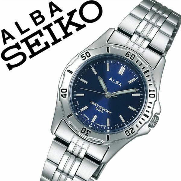 【延長保証対象】セイコー アルバ 腕時計 SEIKO ALBA 時計 セイコーアルバ SEIKOALBA アルバ時計 アルバ腕時計 レディース ブラック AQQS005 プレゼント ギフト メタル ベルト 正規品 防水 アナログ スタンダード シルバー