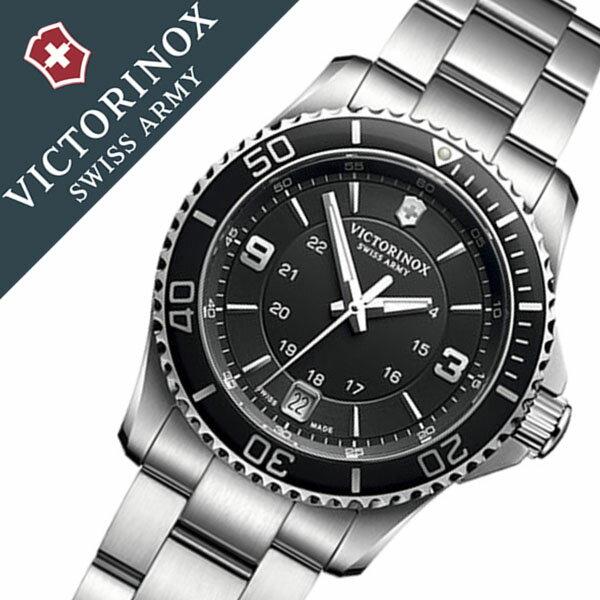 ビクトリノックス 腕時計 [VICTORINOX時計]( VICTORINOX SWISSARMY 腕時計 ビクトリノックス スイスアーミー 時計 ) マーベリック スモール 腕時計 ブラック VIC-241701 [正規品 ブランド 防水 ミリタリー シルバー][バーゲン プレゼント ギフト][おしゃれ 腕時計]