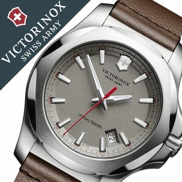 ビクトリノックス 腕時計 [VICTORINOX時計]( VICTORINOX SWISSARMY 腕時計 ビクトリノックス スイスアーミー 時計 ) イノックス レザー 腕時計 グレー VIC-241738 [正規品 ブランド レザー ベルト 革 防水 ミリタリー ブラウン INOX][バーゲン プレゼント ギフト]