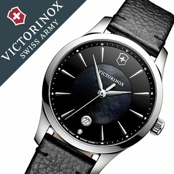 ビクトリノックス 腕時計 [VICTORINOX 時計]( VICTORINOX SWISSARMY 腕時計 ビクトリノックス スイスアーミー 時計 ) アライアンス スモール 腕時計 ブラック VIC-241754 [新作 正規品 ブランド 革 ベルト 防水 ダイアモンド シルバー 白蝶貝][バーゲン プレゼント ギフト]