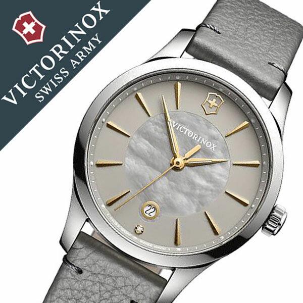 ビクトリノックス 腕時計 [VICTORINOX 時計]( VICTORINOX 腕時計 ビクトリノックス スイスアーミー 時計 ) アライアンス スモール 腕時計 グレー VIC-241756 [新作 正規品 ブランド 革 ベルト 防水 ダイアモンド シルバー ゴールド 白蝶貝][バーゲン プレゼント ギフト]