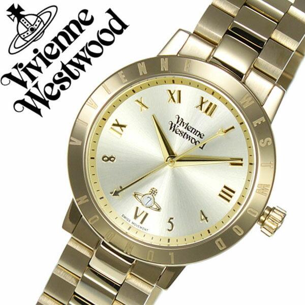 ヴィヴィアンウェストウッド 腕時計 VivienneWestwood 時計 ヴィヴィアン ウェストウッド 時計 Vivienne Westwood 腕時計 ヴィヴィアンウエストウッド ブルームズベリー Bloomsbury レディース ゴールド VV152GDGD メタル ベルト クオーツ オーブ モチーフ オールゴールド