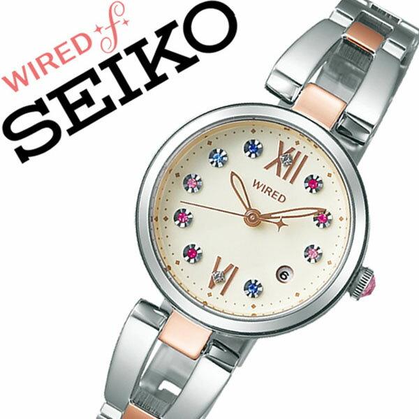 ワイアード 腕時計 [WIRED時計]( WIRED 腕時計 ワイアード 時計 ) エフ ( f ) レディース 腕時計 アイボリー AGEK738 [メタル ベルト 正規品 クオーツ SEIKO ワイヤード クリスタル ストーン 限定 1100本][バーゲン プレゼント ギフト][ 入学式 卒業式 高校生 大学生 ]