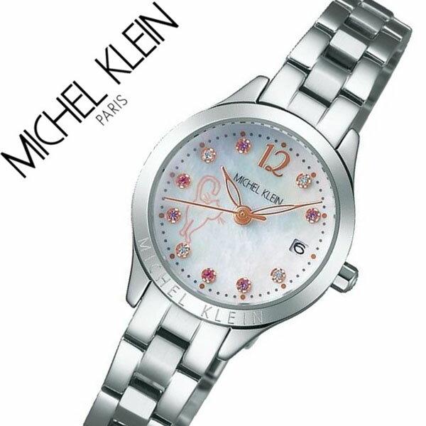 セイコー腕時計 SEIKO時計 SEIKO 腕時計 セイコー 時計 ミッシェルクラン MICHEL KLEIN レディース シェル AJCT701 [正規品 限定モデル 猫 ネコ ねこ キャット シルバー メタル ベルト][おしゃれ 腕時計][ 父の日 父の日ギフト ]