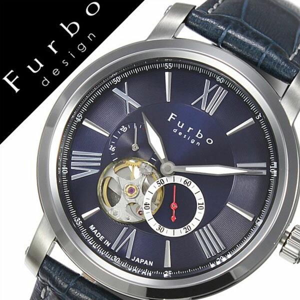 【5年保証対象】フルボデザイン 腕時計 Furbodesign 時計 フルボ デザイン 時計 Furbo design 腕時計 メンズ ブルー F5026BLSET 革 ベルト 正規品 機械式 自動巻 メカニカル おしゃれ オートマチック セット イタリア 送料無料[ 父の日 父の日ギフト ]