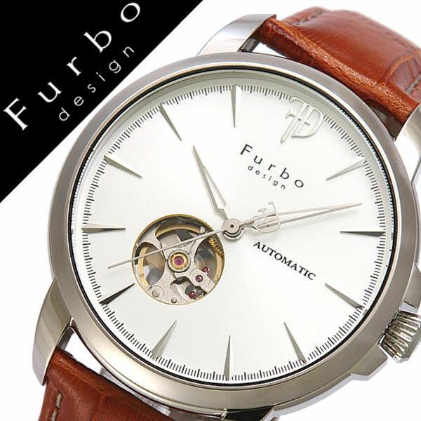 フルボデザイン 腕時計 [Furbodesign時計]( Furbo design 腕時計 フルボ デザイン 時計 ) メンズ 腕時計 ホワイト F5027SSIBR [革 ベルト 正規品 機械式 自動巻 メカニカル オートマチック イタリアンレザー ブルー ネイビー シルバー][おしゃれ 腕時計]