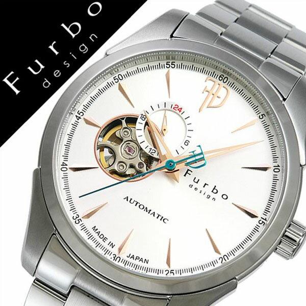 フルボデザイン 腕時計 [Furbodesign時計]( Furbo design 腕時計 フルボ デザイン 時計 ) メンズ 腕時計 ホワイト F5029SISS [メタル ベルト 正規品 機械式 自動巻 メカニカル オートマチック シルバー ゴールド][プレゼント バーゲン][おしゃれ 腕時計]