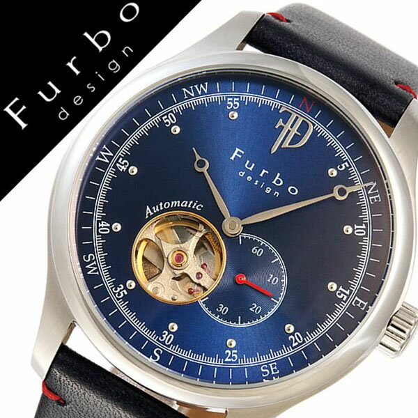 フルボデザイン 腕時計 [Furbodesign時計]( Furbo design 腕時計 フルボ デザイン 時計 ) メンズ 腕時計 ブルー F5030SBLBL [革 ベルト 正規品 機械式 自動巻 メカニカル オートマチック ネイビー シルバー][バーゲン プレゼント ギフト][おしゃれ 腕時計]