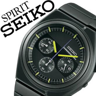 [January 27, 2017 beginning to sell] SEIKO spirit slender watch [SEIKO SPIRIT SMART clock] SEIKO clock [SEIKO watch] men / black SCED059 [1,000 metal belt / regular article / waterproofing /-limited / yellow] [white day]