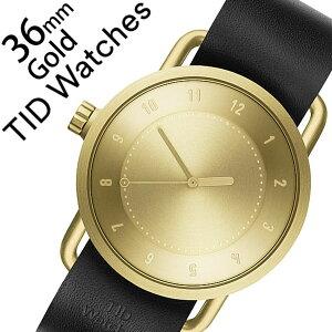 【5年保証対象】ティッドウォッチ腕時計[TIDWatches時計]ティッドウォッチ時計[TIDWatches腕時計]TIDNo.1レディース/ゴールドTID01-GD36-BK[革ベルト/おしゃれ/正規品/No.1/北欧/アナログ/BLACK/ブラック][送料無料]