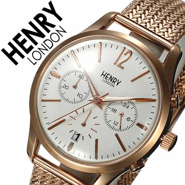 ヘンリーロンドン 腕時計 HENRYLONDON時計 HENRY LONDON 腕時計 ヘンリー ロンドン 時計 リッチモンド RICHMOND レディース ホワイト HL39-CM-0034 [人気 新作 ブランド イギリス 防水 シンプル メタル ベルト メッシュ ギフト バーゲン プレゼント ピンクゴールド]