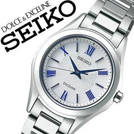 セイコー腕時計 SEIKO時計 SEIKO 腕時計 セイコー 時計 ドルチェ エクセリーヌ DOLCE & EXCELINE レディース シルバー SWCP007 [新作 人気 正規品 ブランド おすすめ オススメ 防水 ソーラー メタル ベルト チタン][おしゃれ 腕時計]
