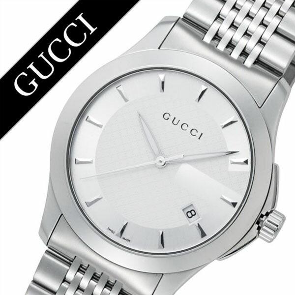 グッチ 腕時計 GUCCI 時計 グッチ 時計 GUCCI 腕時計 Gタイムレス G Timeless メンズ シルバー YA126401 人気 ブランド 防水 高級 プレゼント ギフト メタル ベルト シルバー 送料無料