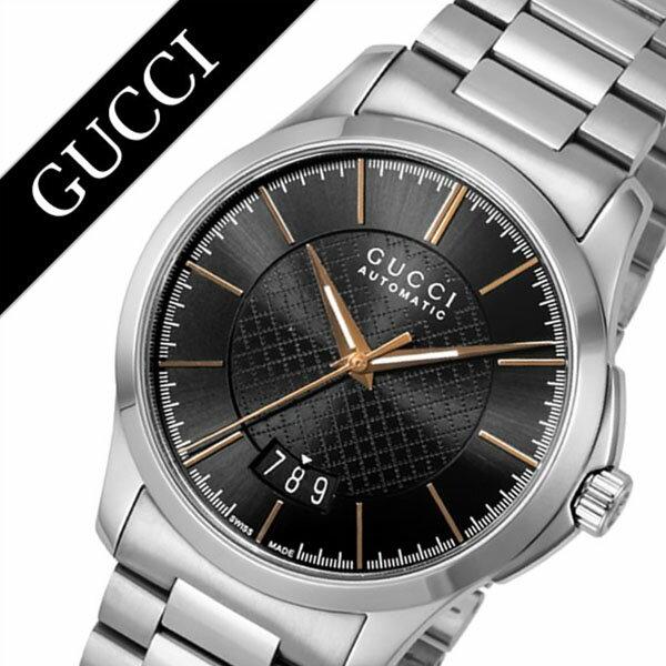 グッチ 腕時計 GUCCI 時計 グッチ 時計 GUCCI 腕時計 Gタイムレス G Timeless メンズ ブラック YA126432 人気 ブランド 防水 高級 プレゼント ギフト メタル ベルト シルバー 送料無料
