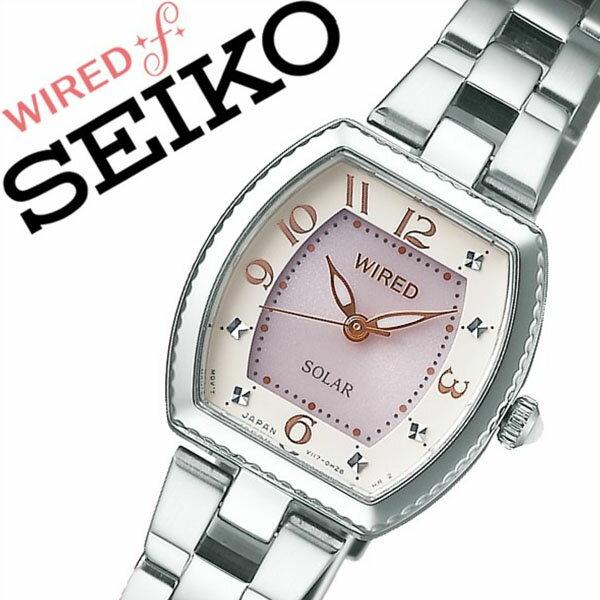 【5年保証対象】セイコー 腕時計 SEIKO 時計 セイコー 時計 SEIKO 腕時計 ワイアード エフ WIRED f レディース ピンク AGED088 人気 正規品 ブランド ワイヤード ソーラー メタル シルバー 送料無料[ 入学祝い 卒業祝い ]