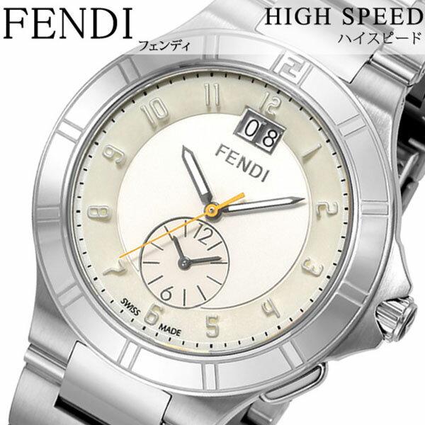 フェンディ腕時計 FENDI時計 FENDI 腕時計 フェンディ 時計 ハイスピード HIGH SPEED メンズ ホワイト F478160 [スイス製 イタリア ギフト バーゲン プレゼント 新作 人気 ブランド ファッション シルバー 日付表示 カレンダー ステンレス][ 父の日 父の日ギフト ]