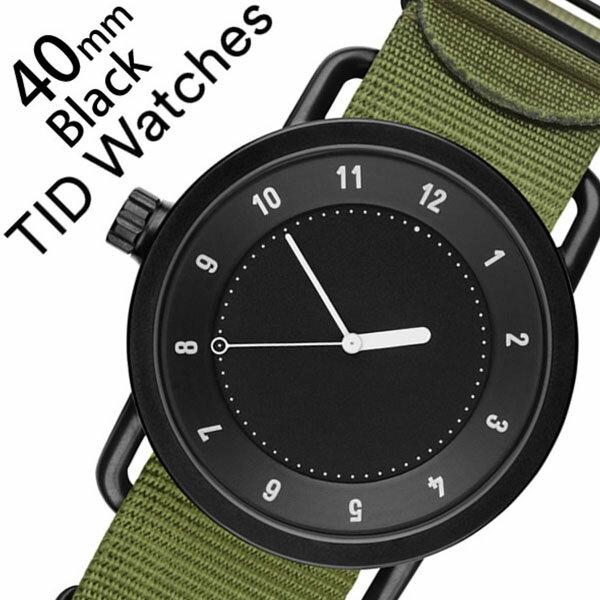 ティッドウォッチ腕時計 TIDWatches時計 TID Watches 腕時計 ティッド ウォッチ 時計 メンズ ブラック TID01-BK40-NGR [正規品 人気 流行 ブランド 革 レザーベルト 北欧 シンプル グリーン ナイロン][新生活 入学 卒業 社会人]
