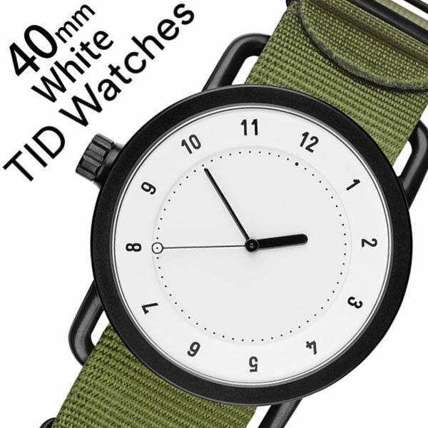 ティッドウォッチ腕時計 TIDWatches時計 TID Watches 腕時計 ティッド ウォッチ 時計 メンズ ホワイト TID01-WH40-NGR [正規品 人気 流行 ブランド 革 レザーベルト 北欧 シンプル グリーン ナイロン][新生活 入学 卒業 社会人]