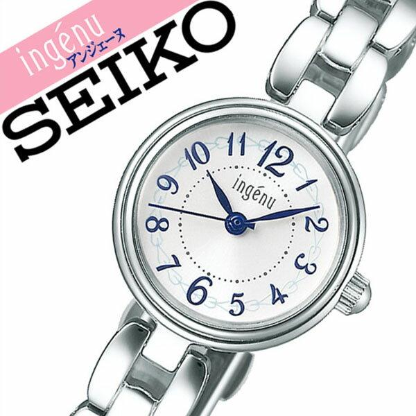 セイコー腕時計 SEIKO時計 SEIKO 腕時計 セイコー 時計 アンジェーヌ ingenu レディース ホワイト AHJK439 [正規品 新作 ブランド 人気 ソーラー 防水 メタル シルバー かわいい]