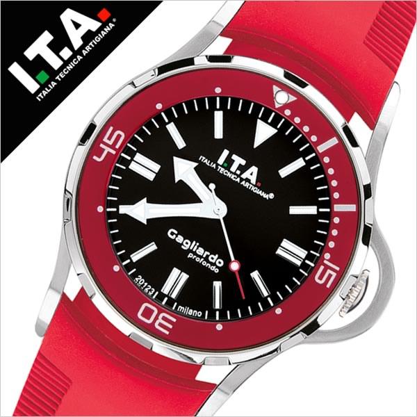 【5年保証対象】アイティーエー 腕時計 I.T.A. 時計 アイティーエー 時計 I.T.A. ITALIA TECNICA ARTIGIANA 腕時計 ガリアルド Gagliardoprofondo メンズ ブラック 24.01.03 イタリア ミラノ 3Dインデックス 立体インデックス ビッグフェイス ラバー 送料無料