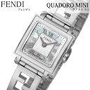 フェンディ 腕時計 FENDI 時計 フェンディ 時計 FENDI 腕時計 クアドロミニ QUADOROMINI レディース ホワイトパール F…