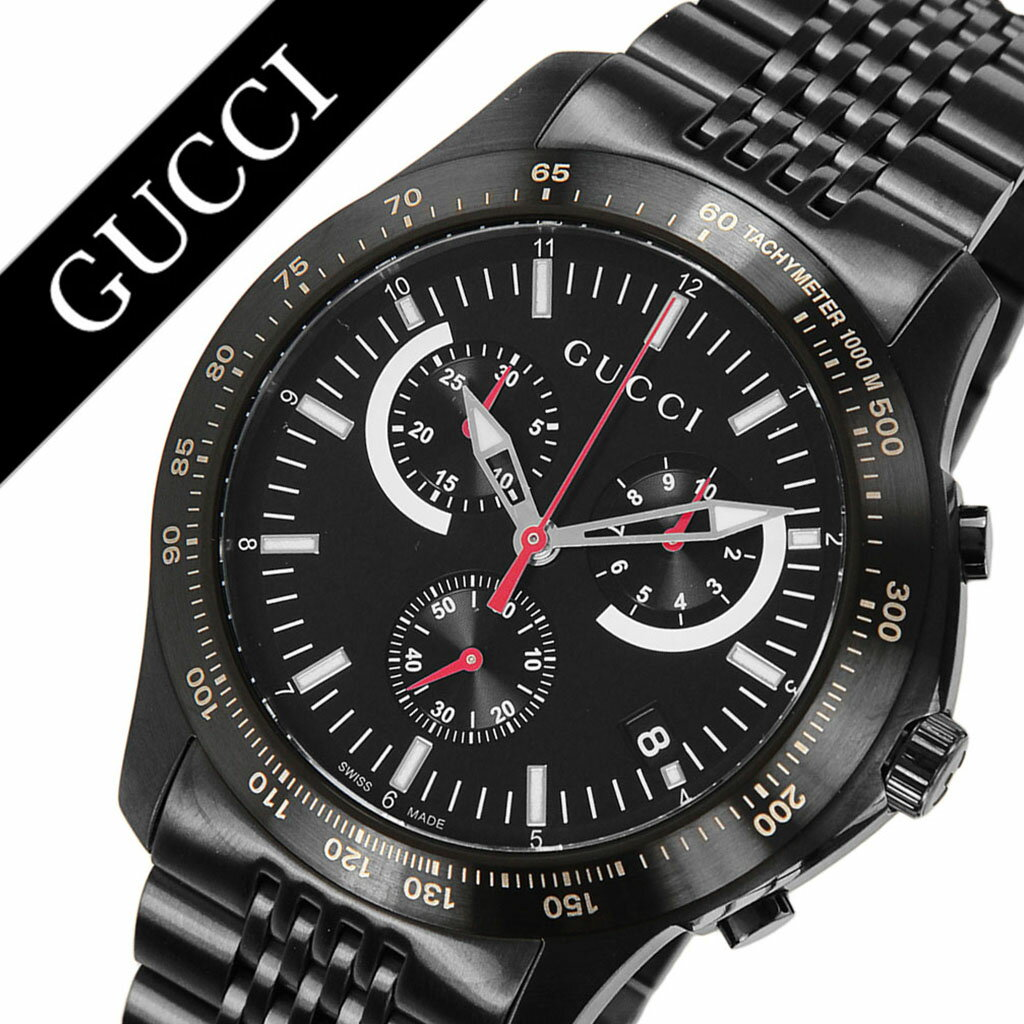 グッチ腕時計 GUCCI時計 GUCCI 腕時計 グッチ 時計 Gタイムレス G-TIMELESS メンズ ブラック YA126258 [新作 人気 ブランド 防水 高級 おすすめ ファッション バーゲン プレゼント ギフト メタル][ 父の日 父の日ギフト ]