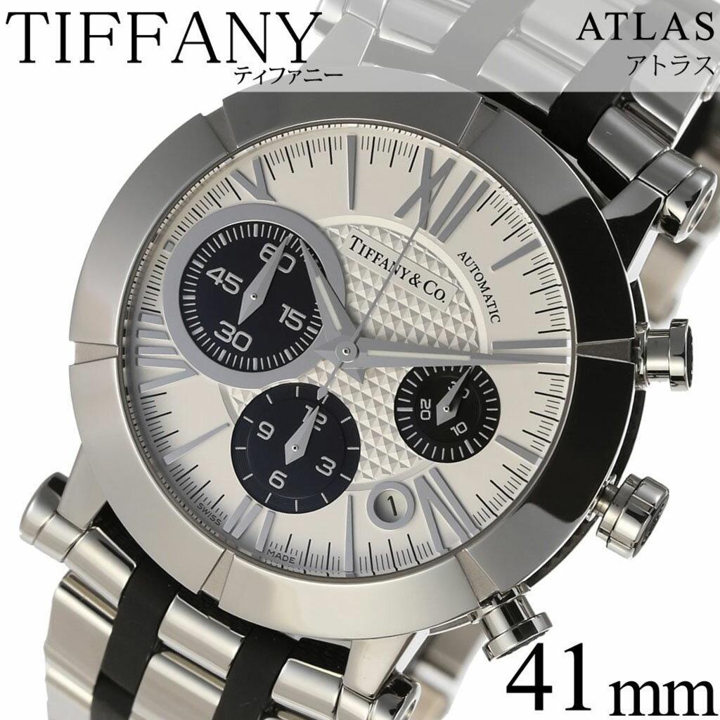 ティファニー腕時計 Tiffany&Co.時計 Tiffany & Co. 腕時計 ティファニー 時計 アトラスジェント Atlas Gent メンズ ホワイト Z1000-82-12A21A00A [人気 高級 ブランド シルバー メタル スイス][ 新社会人 就職祝い ]