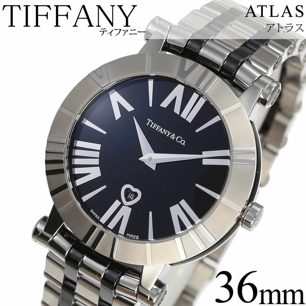 ティファニー腕時計 Tiffany&Co.時計 Tiffany & Co. 腕時計 ティファニー 時計 アトラス Atlas レディース ブラック Z1301-11-11A10A00A [人気 高級 ブランド シルバー メタル スイス クオーツ][ 新社会人 就職祝い ]