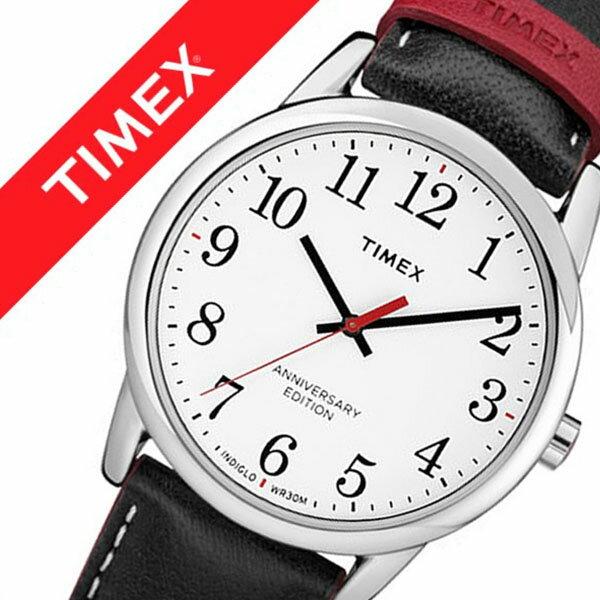 TIMEX 腕時計 タイメックス 時計 イージーリーダー 40周年記念モデル EASY READER 40TH ANNIVERSARY メンズ ホワイト TW2R40000 [正規品 定番 ブランド 人気 記念 シンプル おしゃれ ファッション おそろい ラウンド カジュアル 革 レザー プレゼント ギフト]