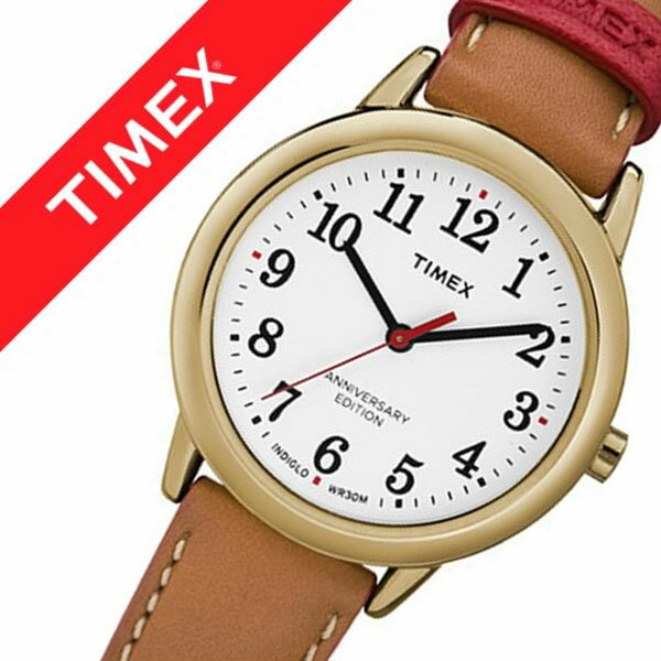 【5年保証対象】タイメックス 腕時計 TIMEX 時計 タイメックス 時計 TIMEX 腕時計 イージーリーダー 40周年記念モデル EASY READER 40TH ANNIVERSARY レディース ホワイト TW2R40300 定番 ブランド 人気 革 レザー ゴールド ブラウン レッド プレゼント ギフト 送料無料