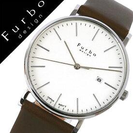 フルボデザイン腕時計 Furbo design 腕時計 フルボ デザイン 時計 メンズ ホワイト F02-SWHLG [正規品 イタリア スタイル 人気 定番 スーツ ビジネス フォーマル ファッション おしゃれ シンプル デザイン レザー カレンダー カーキ プレゼント ギフト]