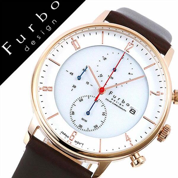 【5年保証対象】フルボデザイン 腕時計 Furbodesign 時計 フルボ デザイン 時計 Furbo design 腕時計 メンズ ホワイト F761-PWHDB [ イタリア 人気 定番 スーツ ビジネス おしゃれ デザイン レザー クロノグラフ ソーラー ブラウン プレゼント ギフト][送料無料]