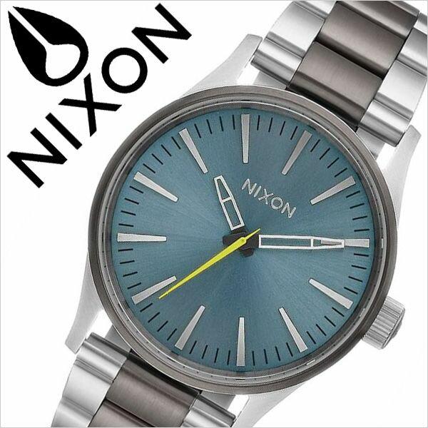ニクソン 腕時計 NIXON 時計 ニクソン腕時計 NIXON時計 セントリー38 SENTRY 38 レディース ライトブルー A450-2304 [ 防水 ペアウォッチ ステンレス メタル シルバー ]