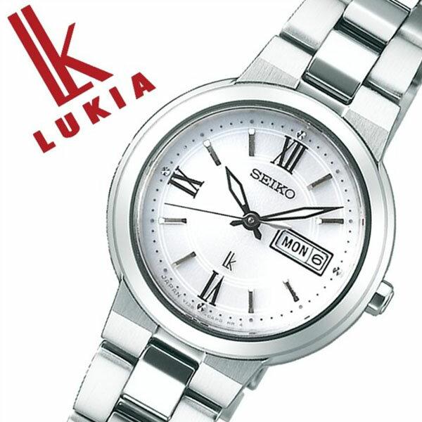 SEIKO 腕時計 セイコー 時計 ルキア LUKIA レディース ホワイト SSVN029 [正規品 人気 ブランド ベーシック デザイン おしゃれ ビジカジ シンプル ラウンド カレンダー シルバー ステンレス ソーラー プレゼント ギフト]
