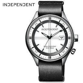 シチズン インディペンデント 腕時計 CITIZEN INDEPENDENT 時計 メンズ ホワイト KL8-643-10[正規品 ビジネス カジュアル モダン メタル 軽量 おしゃれ 防水 ソーラー 電波時計 ブラック 革 レザー プレゼント ギフト]