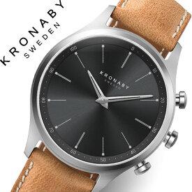 [当日出荷] クロナビー 腕時計 KRONABY 時計 クロナビー 時計 KRONABY 腕時計 セイケル SEKEL メンズ A1000-3123 ブラック レザー 革 北欧 スマートウォッチ ラウンド アプリ カレンダー GPS 高機能 アナログ ブルートゥース Bluetooth ビジネス シンプル コネクト ウォッチ