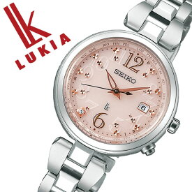 セイコー ルキア ソーラー 腕時計 SEIKO LUKIA 時計 レディース ピンク SSQV047[ダイヤ シンプル ラウンド カレンダー ビジネス ビジカジ 仕事 おしゃれ 人気 おすすめ ファッション カジュアル かわいい プレゼント ギフト]