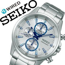 セイコー 腕時計 SEIKO 時計 セイコー 時計 SEIKO 腕時計 ワイアード WIRED メンズ シルバー AGAT425 クロノグラフ クロノ ビジネス スーツ カジュアル 旦那 夫 彼氏 息子 就活 就職 社会人 入学 卒業