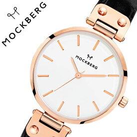 [当日出荷] モックバーグ 腕時計 MOCKBERG 時計 Original レディース ホワイト MO123 [ 正規品 人気 ブランド 女性用 彼女 妻 嫁 上品 かわいい 薄型 アクセサリー シンプル 革 ローズゴールド プレゼント ギフト ]送料無料