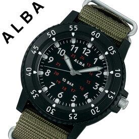 【5年保証対象】セイコー 腕時計 SEIKO 時計 セイコー時計 SEIKO腕時計 アルバ ALBA メンズ ブラック AQPK418 [ 人気 ブランド 新作 おすすめ 防水 ナイロン NATO 軽量 デザイン 回転ベゼル 蓄光 24時間表示 ファッション おしゃれ カジュアル スポーツ アウトドア ギフト ]