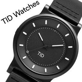 【5年保証対象商品】ティッドウォッチズ 腕時計 TIDWatches 時計 ティッド ウォッチズ TID Watches No.4 40mm メンズ ブラック 40101112 [ ブランド 人気 北欧 シンプル デザイナーズ ウォッチ 個性的 シンプル レザー 革 バンド ベルト 革ベルト ガンメタ おしゃれ ]