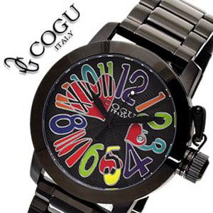 コグ 腕時計 COGU 時計 コグ 時計 COGU 腕時計 コグ腕時計 cogu時計 コグ時計 cogu腕時計 ブラックアウト & マルチカラー メンズ ブラックIP 送料無料 中学生 高校生 大学生