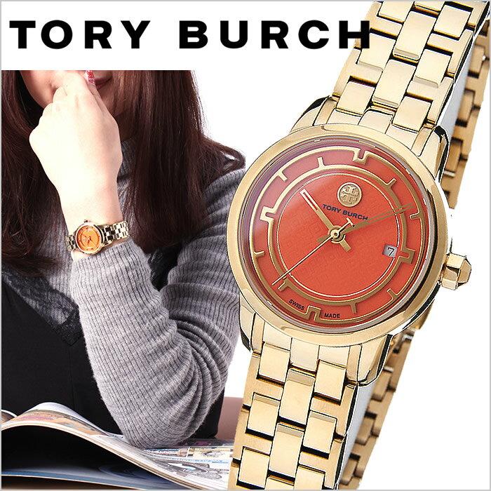 トリーバーチ 腕時計 TORYBURCH 時計 トリー バーチ 時計 TORY BURCH 腕時計 トリーバーチ腕時計 TORY レディース オレンジ TRB1012 トリバ トリバーチ 人気 ブランド メタル ベルト ゴールド ブレスレット アクセサリー プレゼント ギフト 送料無料