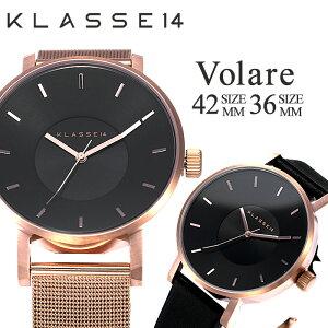 クラス14腕時計[KLASSE14時計]クラス14時計[KLASSE14腕時計]ヴォラーレダークローズDARKROSEレディース/メンズ/ブラック[新作/人気/ブランド/ペアウオッチ/メタル/メッシュ/レザーベルト/ローズゴールド/ピンクゴールド][送料無料]