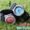 \キッズランキング第1位★/[安心の防水機能 付け外し簡単マジックバンド] カクタス 子供 腕時計 キッズ 学習 時計 …