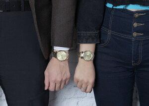 【ペア価格】ペアウォッチバーバリー腕時計BURBERRY腕時計バーバリー時計メンズレディース男性女性用ゴールド金チェック柄メタルベルト高級ブランド恋人プレゼントカップルペアウォッチお揃い人気夫婦ペアルック記念結婚記念日スイスメイド