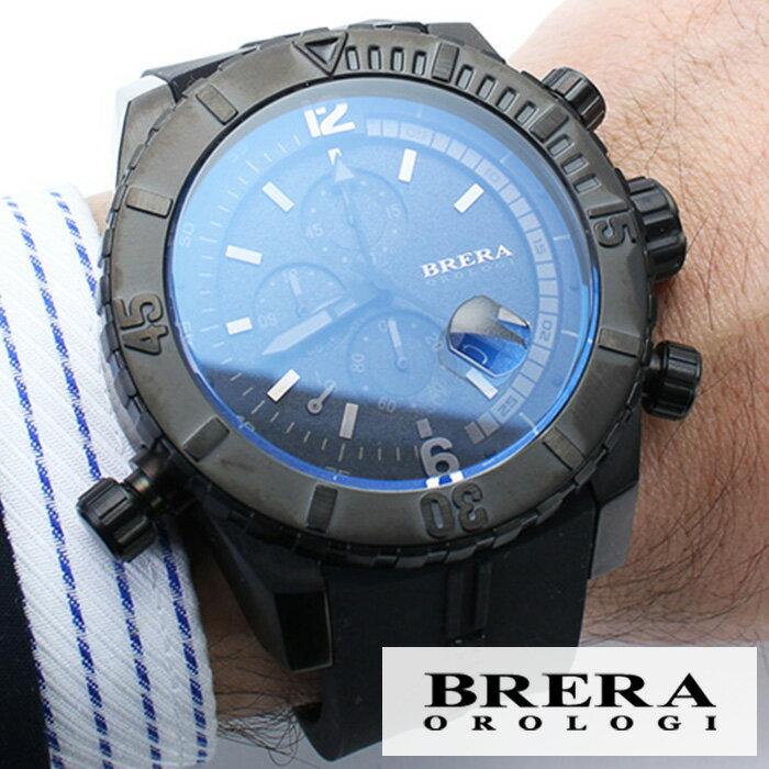 ブレラ 時計 BRERA 腕時計 ブレラオロロジ 腕時計 BRERAOROLOGI 時計 ブレラ オロロジ BRERA OROLOGI ブレラ時計 ブレラオロロジ腕時計 ソットマリノ ダイバー SOTTOMARINO DIVER メンズ時計 BRDVC4703 高級 人気 イタリア ブランド ブラック かっこいい おしゃれ 送料無料