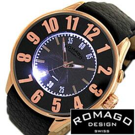 ロマゴ 時計 ROMAGO 時計 ロマゴ 腕時計 ROMAGO 腕時計 ロマゴデザイン ROMAGODESIGN ロマゴ デザイン ROMAGO DESIGN ロマゴデザイン腕時計 ヌメレーション シリーズ NUMERATION SERIES メンズ レディース RM007-0053ST-RG レザーベルト 送料無料
